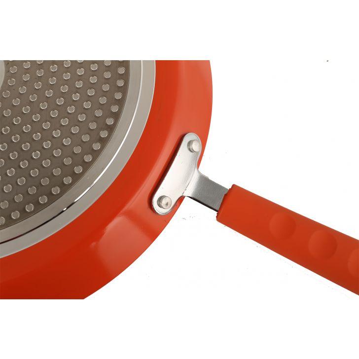 Granite Concave Tava 30cm with Lid Orange,Kitchenware