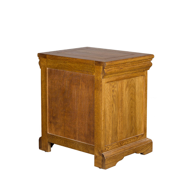 Denver Bed Side Table Brown Oak,Bedroom Sets