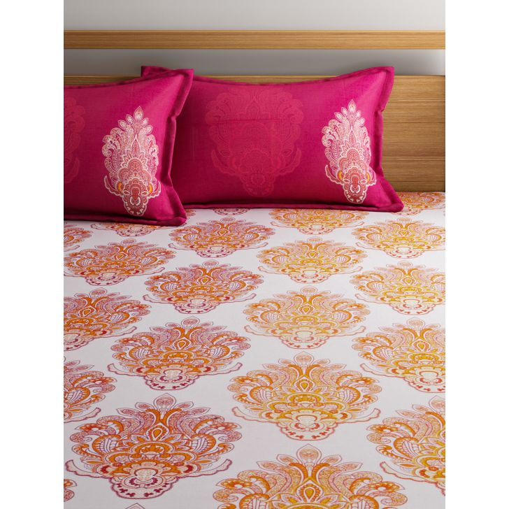 Bedsheet Set Fete Double Orange,Double Bed Sheets