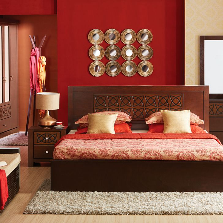 Buy Astra Queen Size Bed In Rubber Wood With Box Storage Online In India Ho340fu16mcdindfur