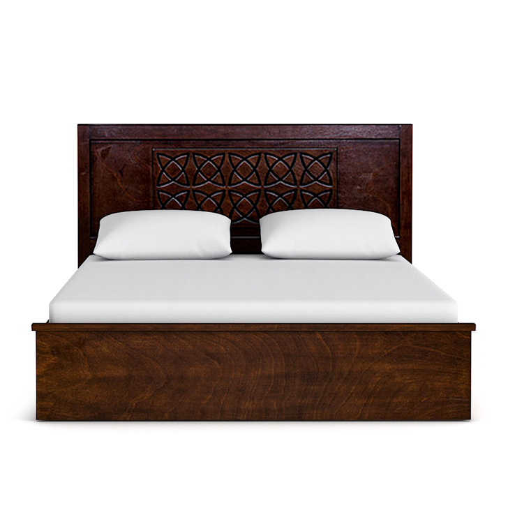 Astra Queen Size bed in rubber wood with Box Storage,Queen/Double Size Beds