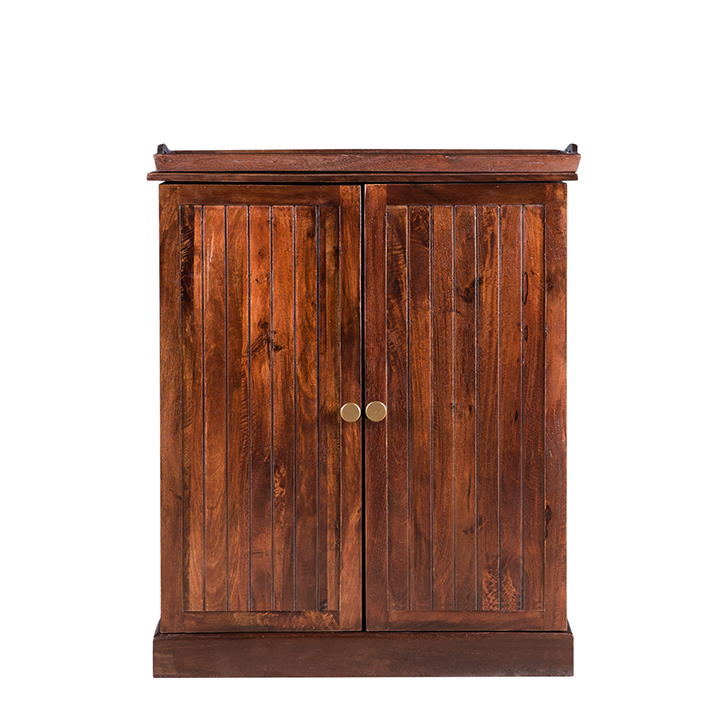 Syrah Wine Cabinet With Tray Chest Nut,Bar Trolleys