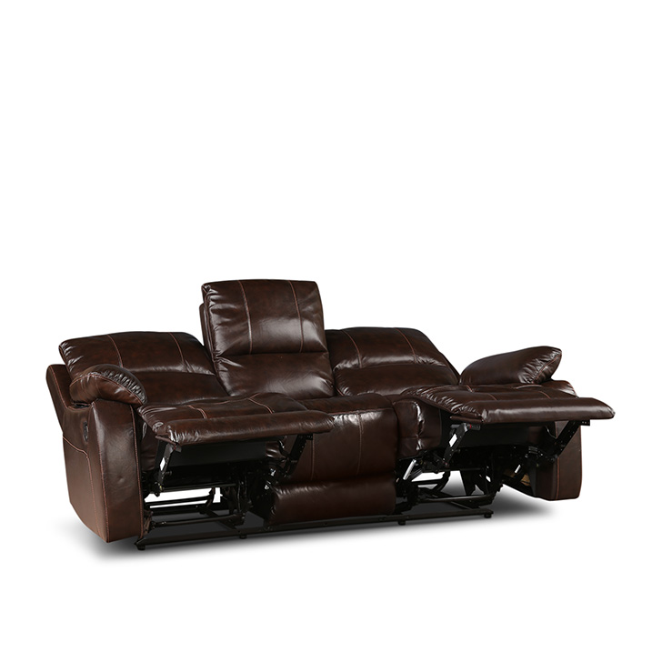 William Three Seater Recliner Brown,Recliners