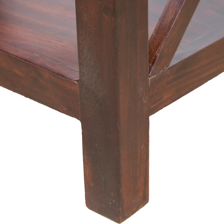 Hope Solidwood End Table in Brown Colour,Kitchen Cabinets