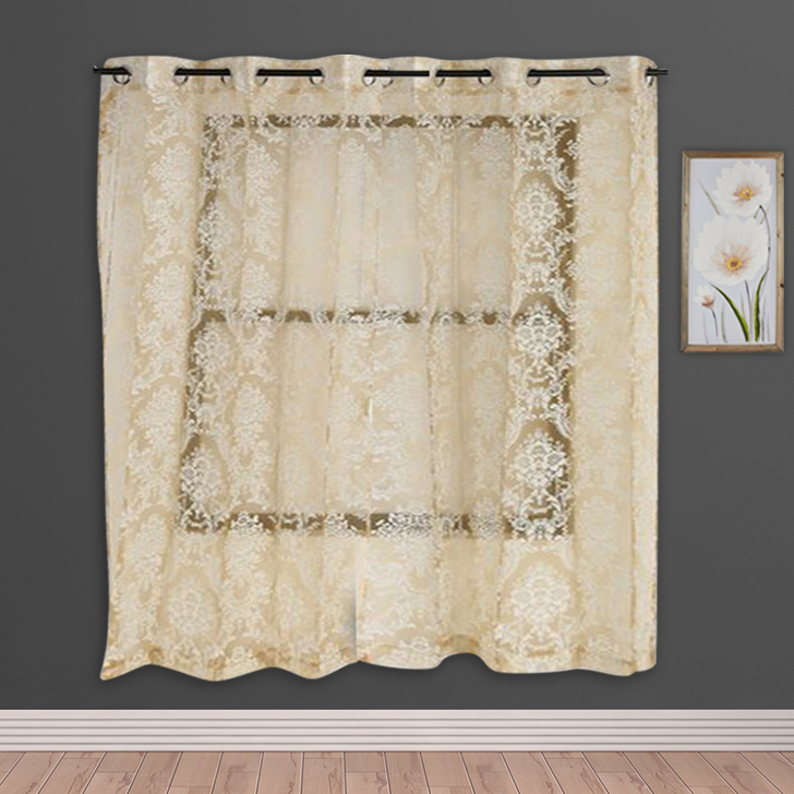 Amour Sheer Window Curtain White Set of 2,Window Curtains