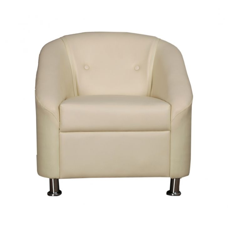 Belfast Leatherette One Seater Sofa Ivory,Furniture