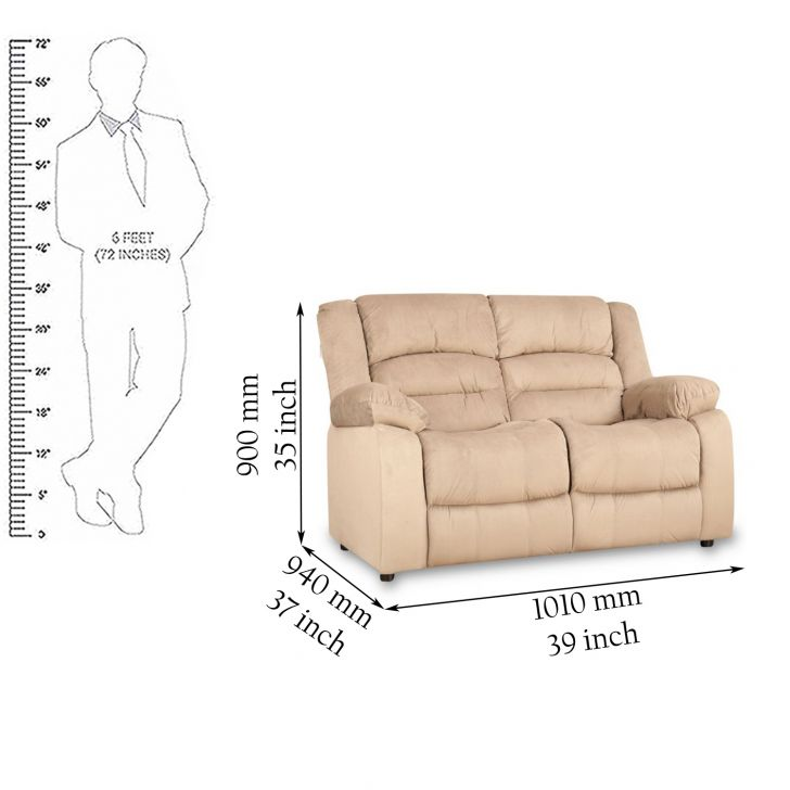 Bradford 2 Seater Fabric Sofa,Sofas & Sectionals