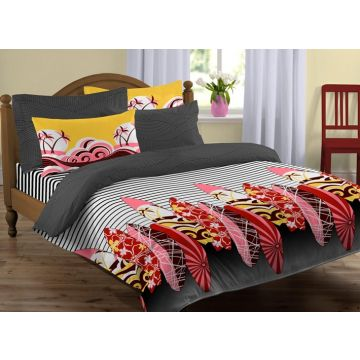spaces bohochic red bed linen set