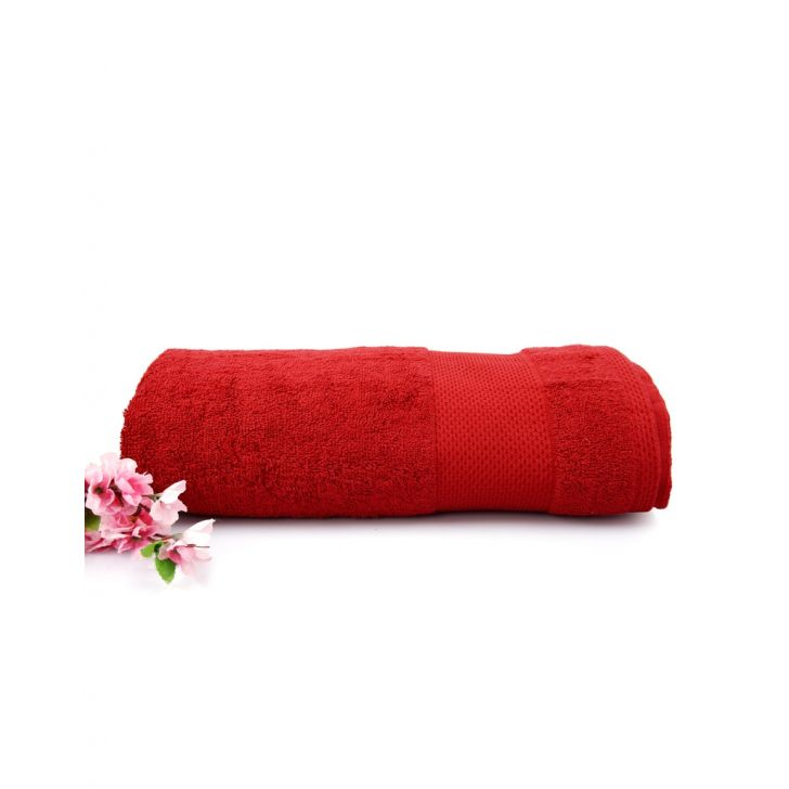Terry Bath Towel 1 Piece Red,Bath Towels