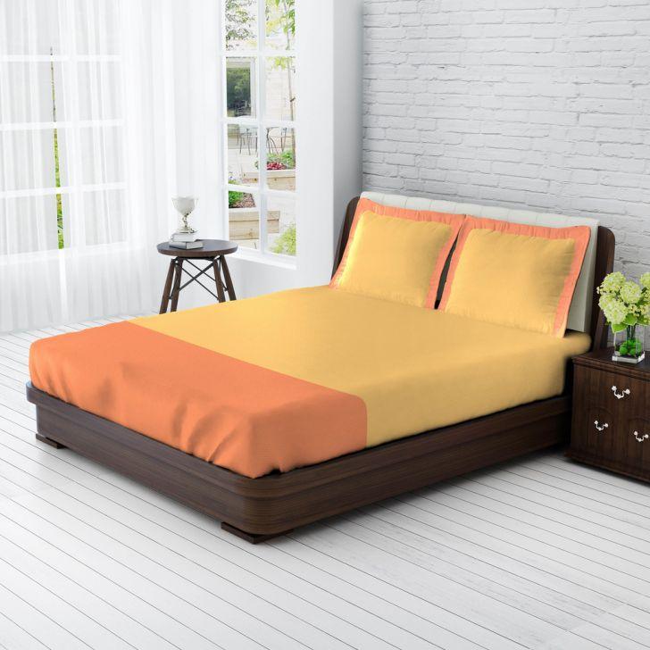 King Bedsheet Sandalwood & Peach,King Size Bed Sheets