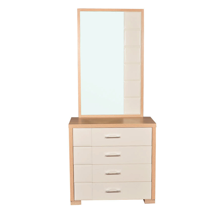 Geo Dresser With Mirror Beige And Cream,Dressing Tables