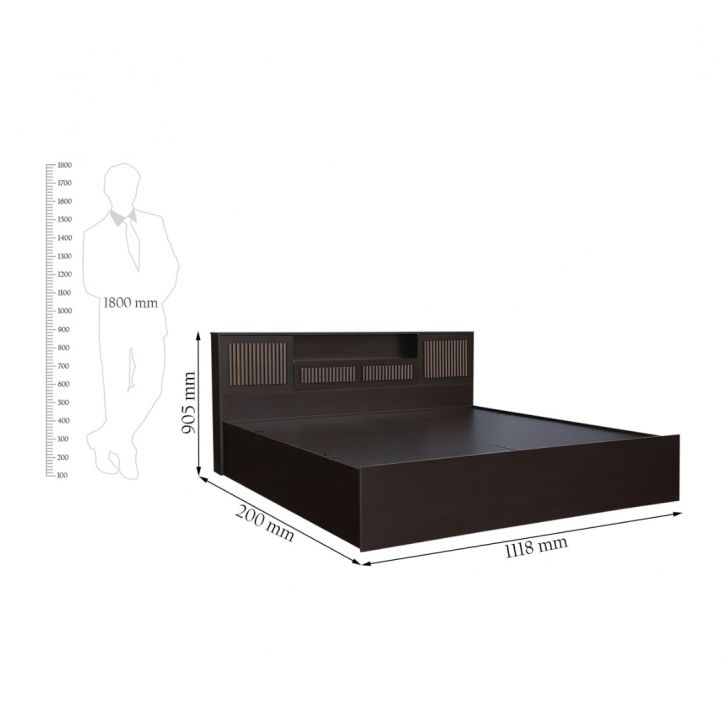 Tiago Super Storage King Bed,All Beds