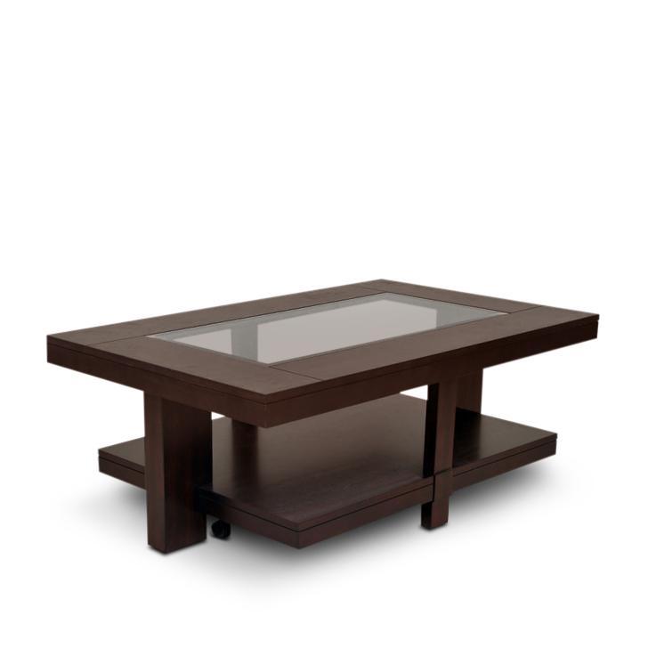 Buy joss veener center table in dark walnut colour online for Html table center
