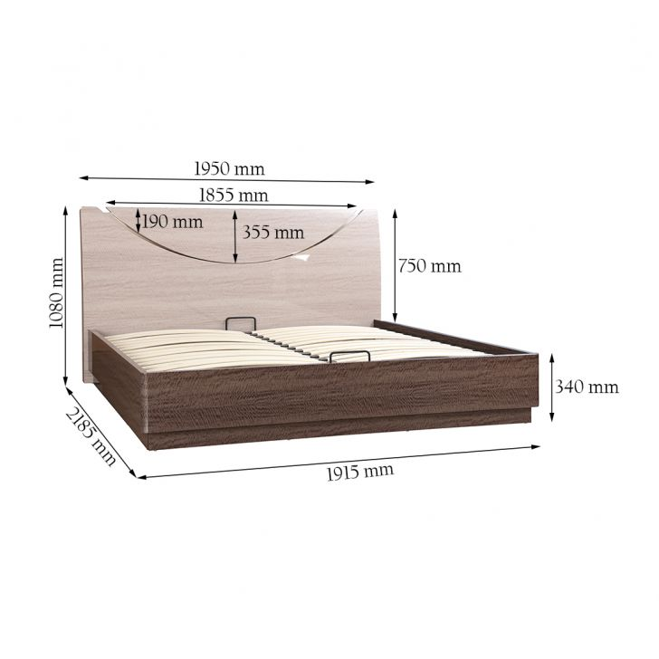Athena High Gloss King Bed,All Beds