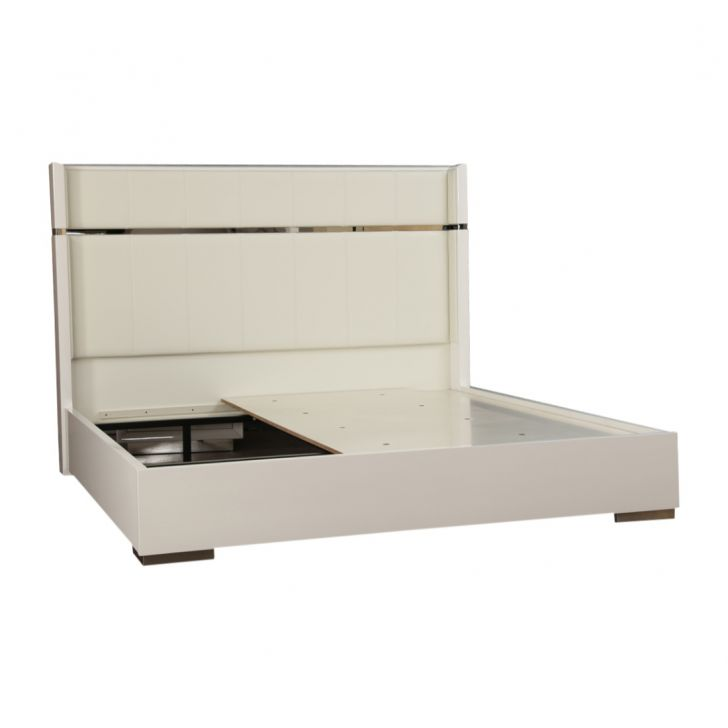 Diana Highgloss King Bed with storage,All Beds