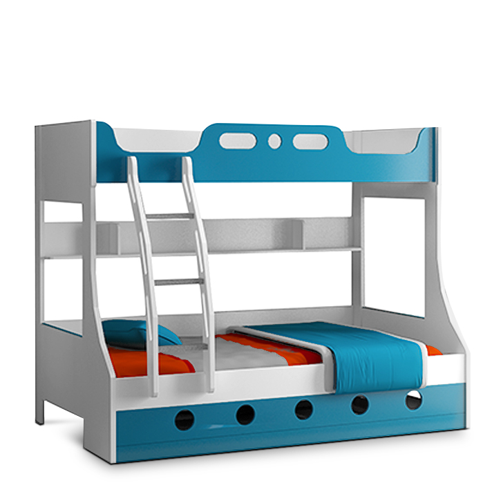 Buy JERRY BUNK BED BLUE Online In India