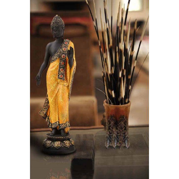 Pristine Standing Buddha Gold,Figurines