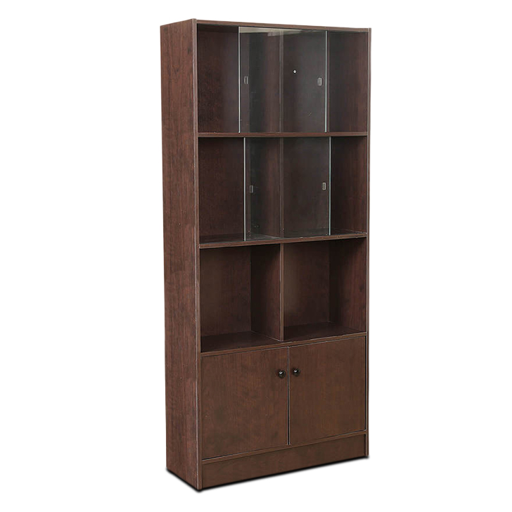 Crony Book Case Large in Brown Colour,Book Shelves
