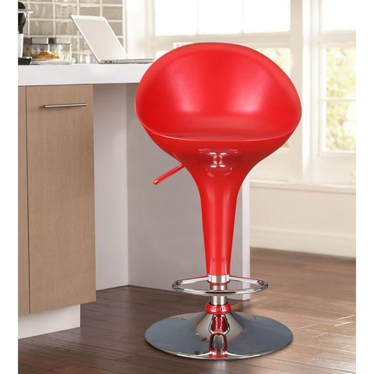 Emily Bar Stool with Footrest in Red Colour,The Big Summer Sale