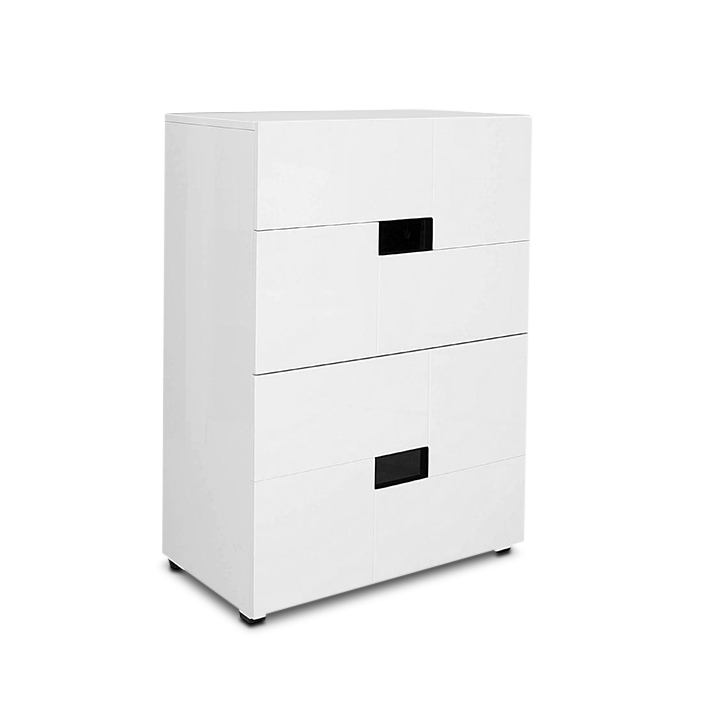 Edwina High Gloss Chest of Drawers in White Colour,Chest of Drawers