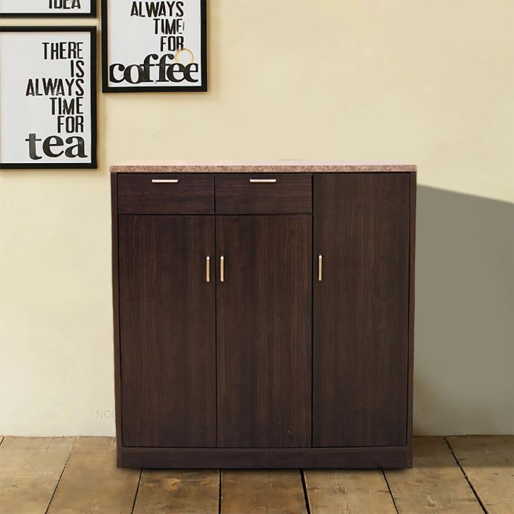Murano Three Door Multipurpose Cabinet in Wenge Colour,Kitchen Cabinets