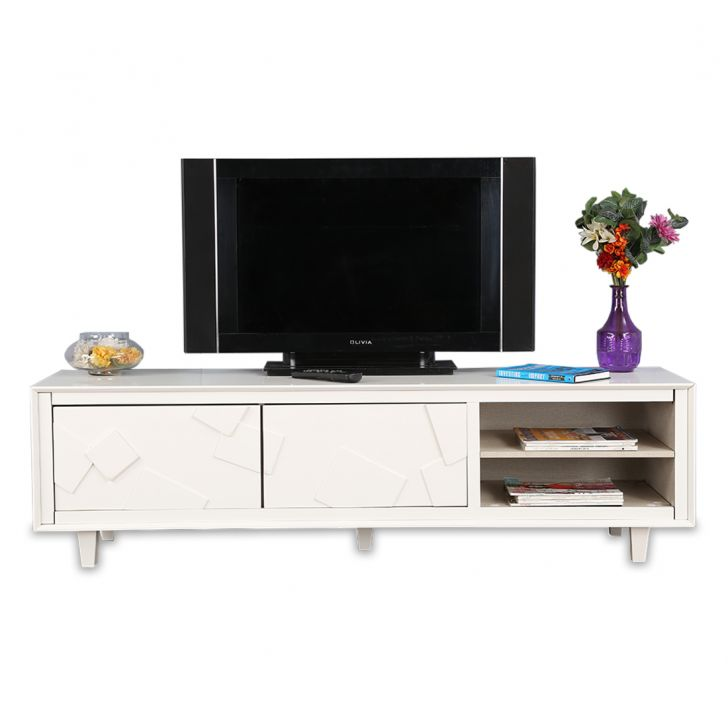 Norah TV Unit in White Melamine Finish,TV Units