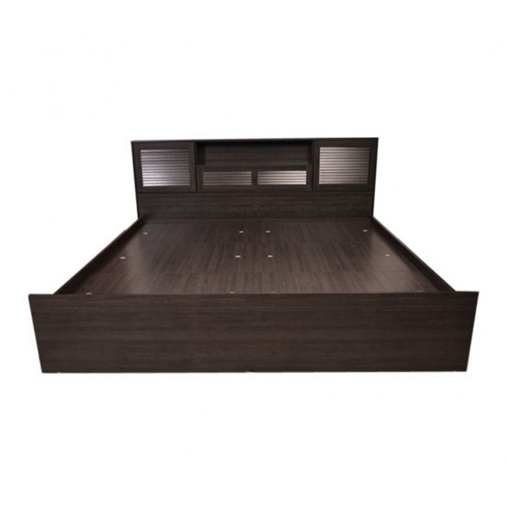 Bolton King Bed with Box Storage in Wenge Finish,Furniture