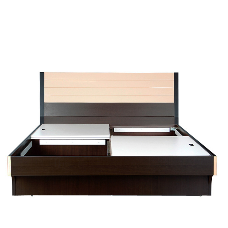Elena Queen Bed in Engineered Wood with Box Storage,Beds with Storage