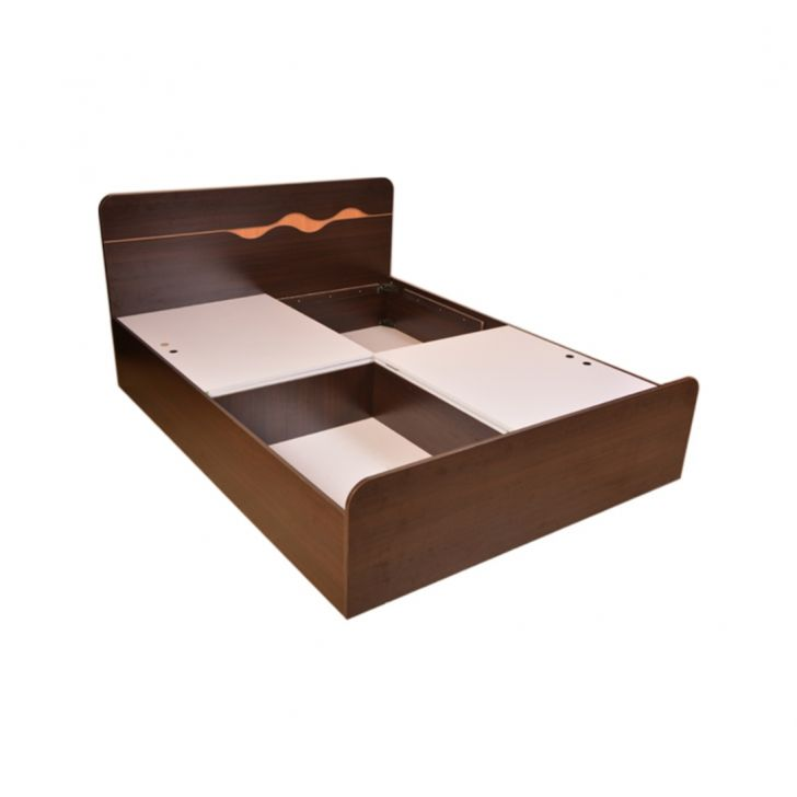 Swirl Queen Bed With Box Storage,The Big Summer Sale