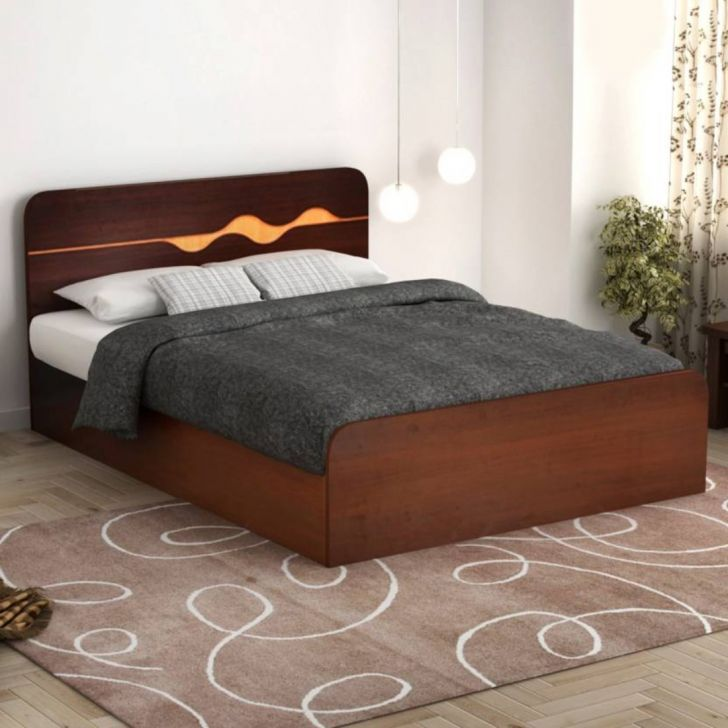 Swirl Queen Bed With Box Storage,Furniture