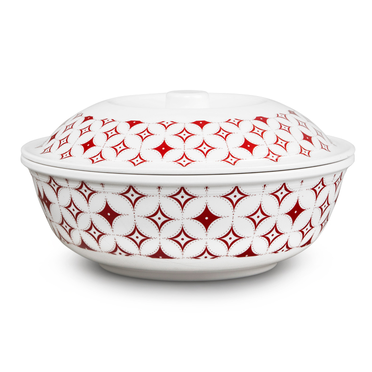 Living Essence Urmi Global Folk Serving Bowl With Lid,Bowls