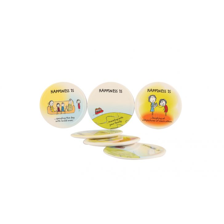 Happiness Round Coaster - Rad Assorted,Hot Deals