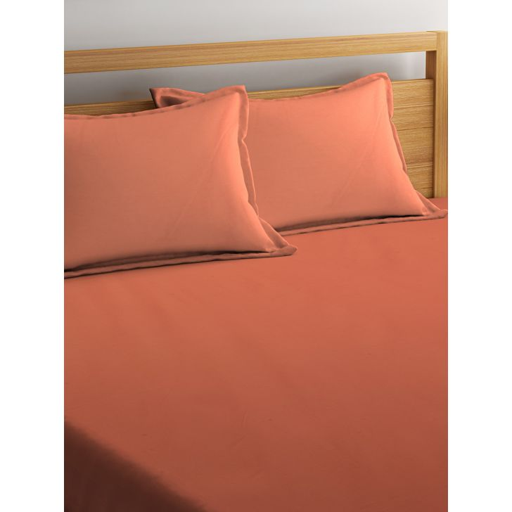 Portico Supercale Bedsheet Tangrine,Double Bed Sheets