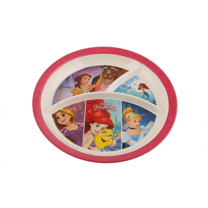 SW 3Partition Round Plate Disney Princess,Tableware