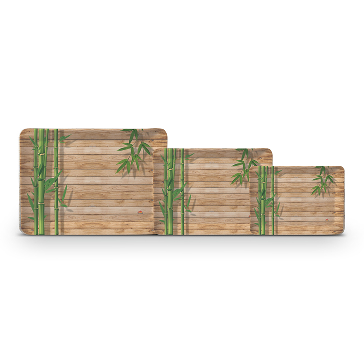 Servewell Bamboo Delight Stylo Tray Set 3 Pcs,Trays