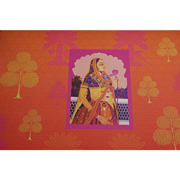 LE Raja Rani Print Big Tray,Tableware