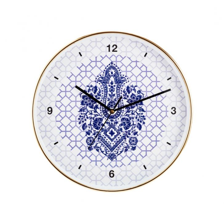 Aika Eclectic Folk Ethnic Diamond Motive Clock,Wall Clocks