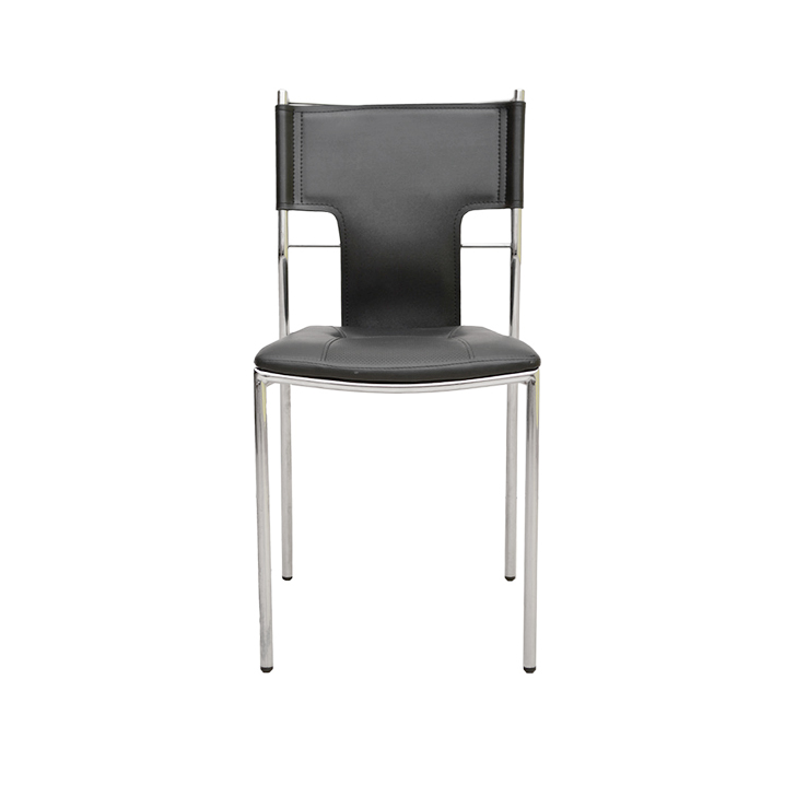 Rio Stackable Metal Chair in Black Colour,Office Chairs