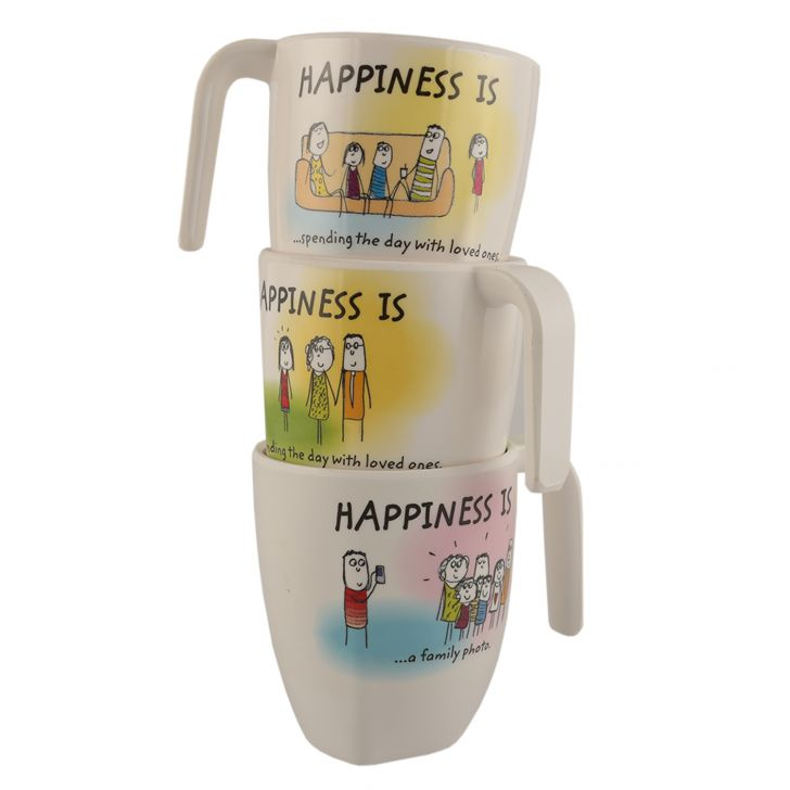 HAPPINESS SYMPHONY MUG L - Rad Assrt,Mugs & Cups