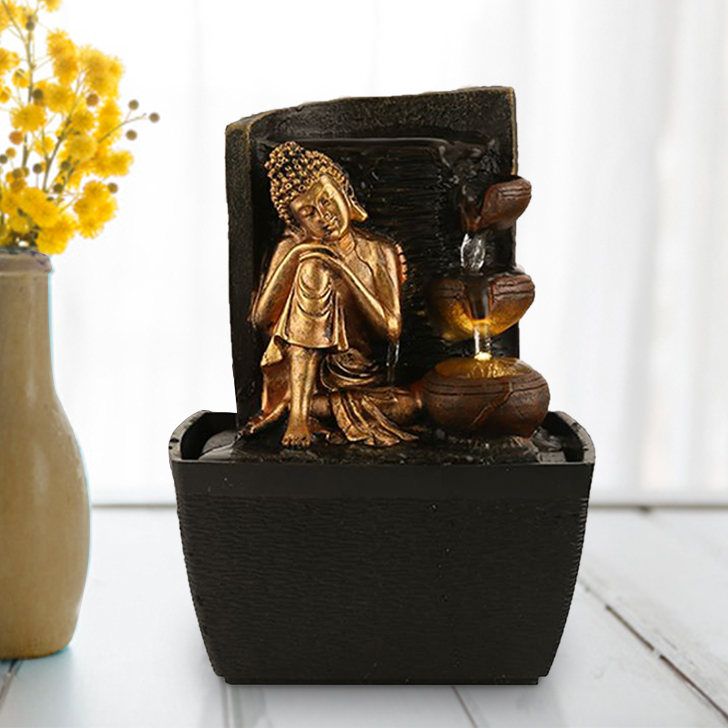 Impression Small Budha with Pot Fountain,Indoor Fountains