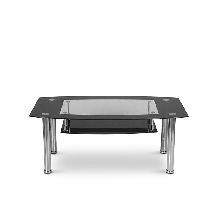Buy Ben Glass Top Coffee Table In Transparent And Black