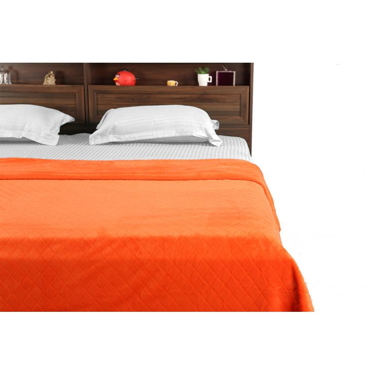 Fleece Blanket 240X220 Diamondorange,Quilts/Blankets