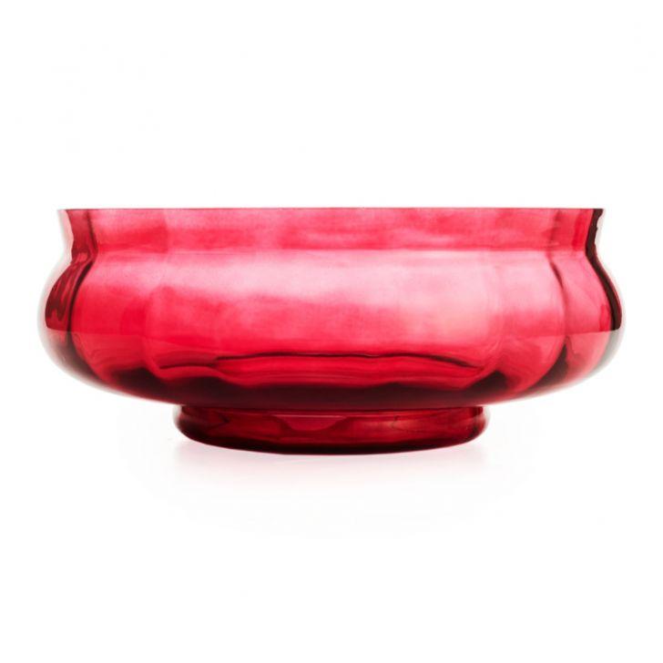 Ariel Deco Glass Bowl Red,Votives & Jars