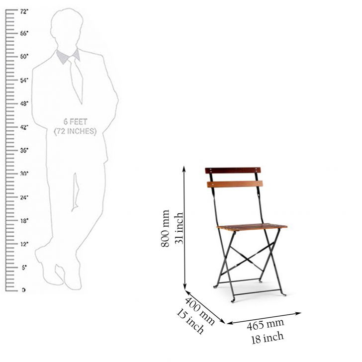 Desio Folding Chair Brown,Garden Furniture