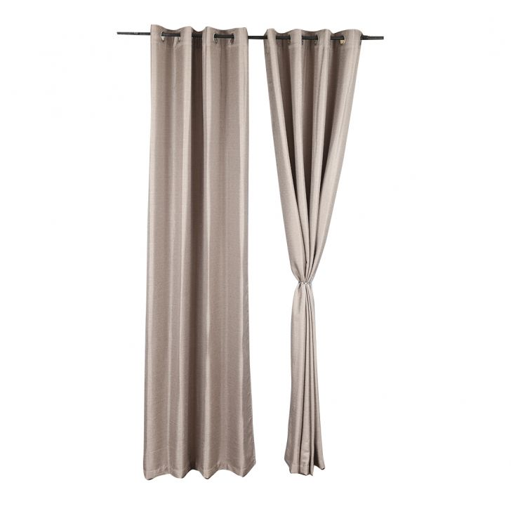Textura Extra Large Curtain Grey Set of 2,Long Door Curtains