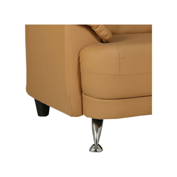 Corinth Letherette One Seater Sofa Camel,Furniture