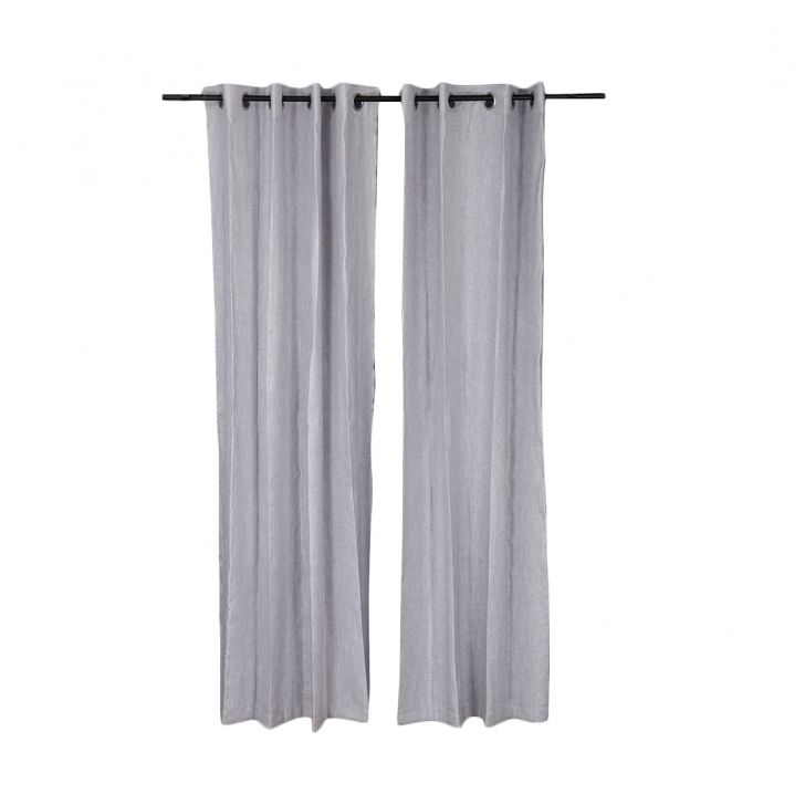 Amour Door Curtain Grey Set of 2,Door Curtains