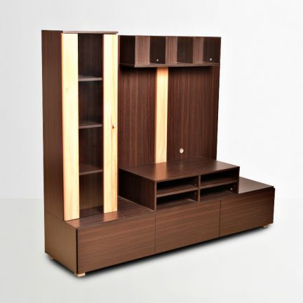 Buy Hugo Wall Unit Walnut And Teak Online in India