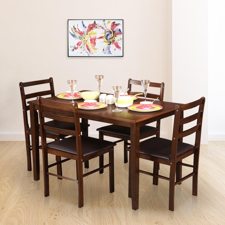 Bolton  Four Seater Dining Set in Dark Walnut Finish,The Big Summer Sale