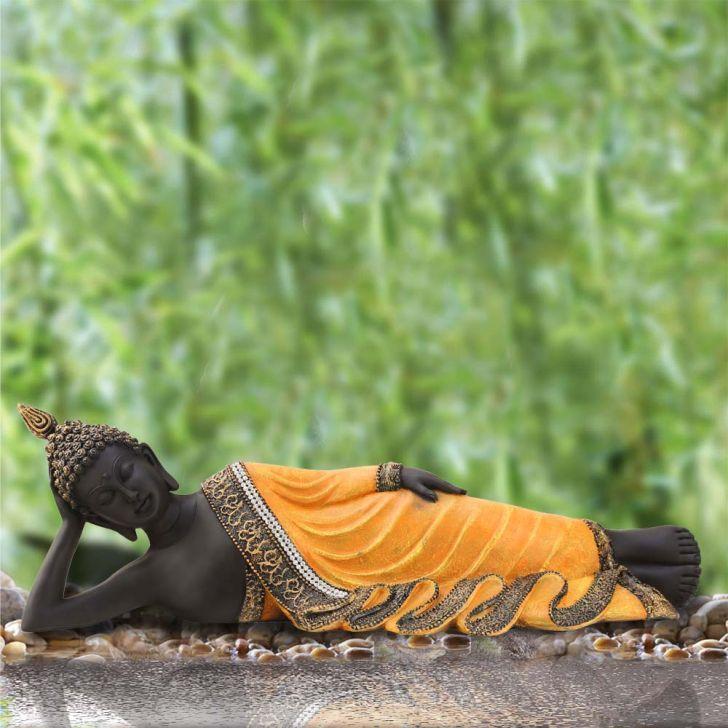 Pristine Resting Buddha Gold,Figurines